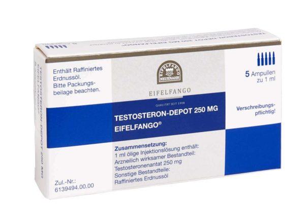 Testosteron Depot 250 mg Eifelfango 5 ampules