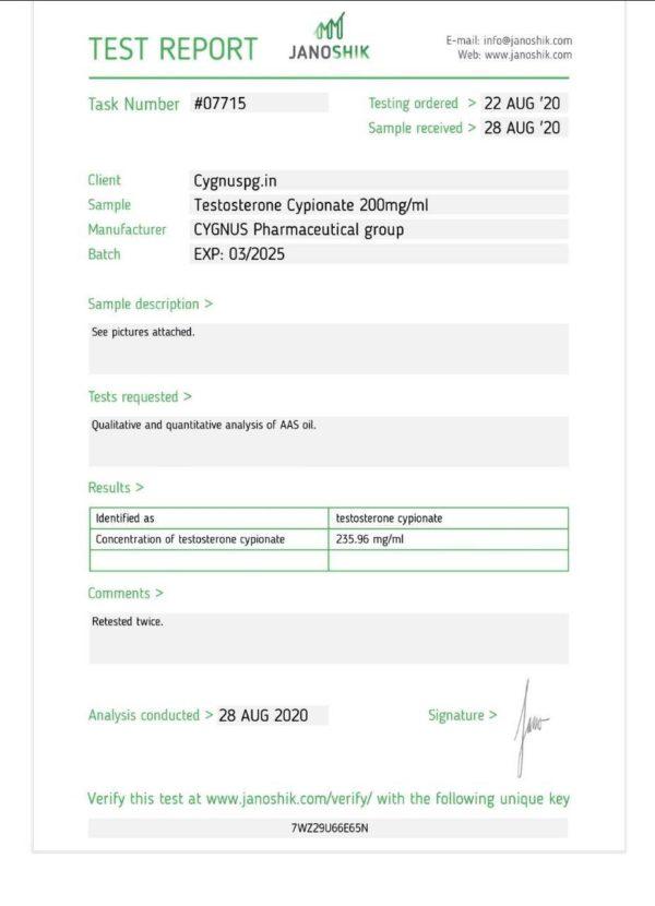test c Cygnus pharma