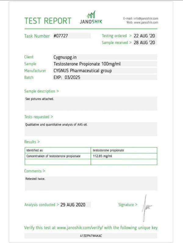 test p Cygnus pharma